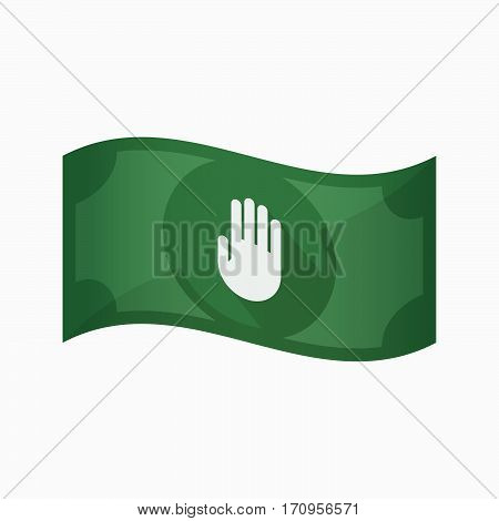 Isolated Bank Note With A Hand