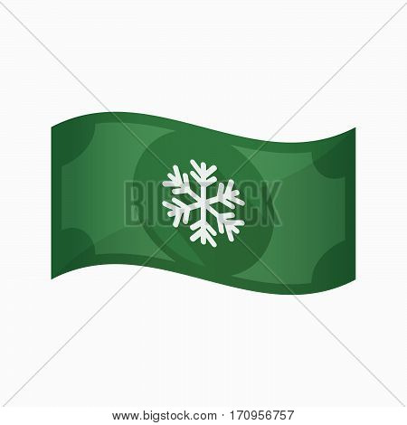 Isolated Bank Note With A Snow Flake