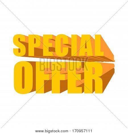 Special Offer Template. Lettering Symbol Business Design