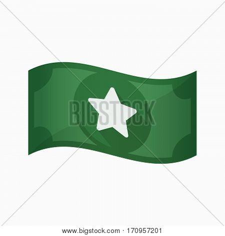 Isolated Bank Note With A Star