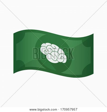 Isolated Bank Note With A Brain