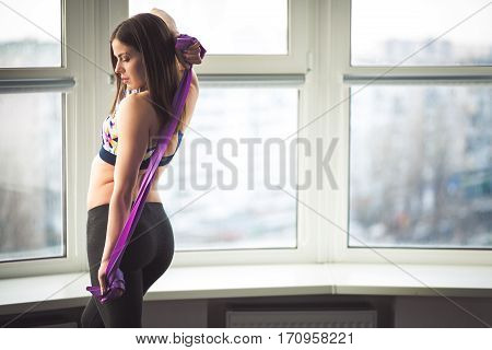 Woman Working Out In The Studio