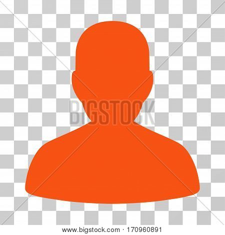 User Account icon. Vector illustration style is flat iconic symbol orange color transparent background. Designed for web and software interfaces.