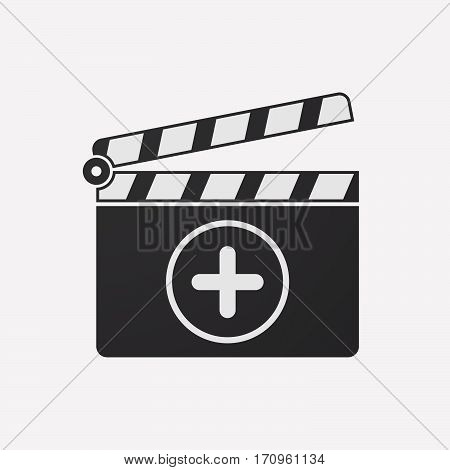 Isolated Clapper Board With A Sum Sign