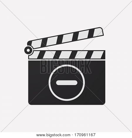 Isolated Clapper Board With A Subtraction Sign