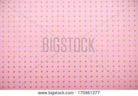 pattern or textures set with white polka dots on light pink background