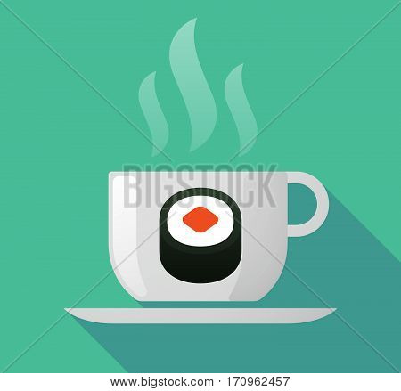 Long Shadow Mug With A Piece Of Sushi Maki