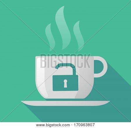 Long Shadow Mug With An Open Lock Pad