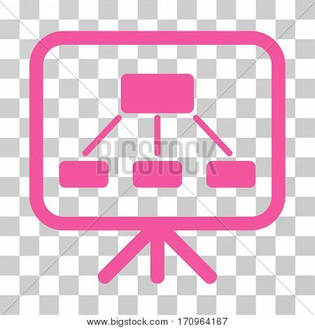 Scheme Demonstration Screen icon. Vector illustration style is flat iconic symbol pink color transparent background. Designed for web and software interfaces.