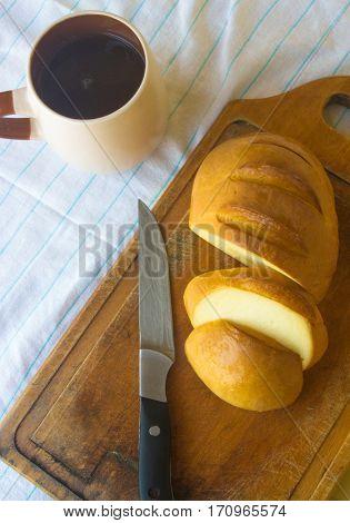 Head Of Traditional Adygei Cheese Handmade