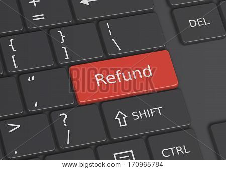 A 3D Illustration Of The Word Refund Written On The Keyboard