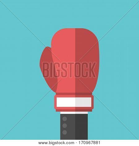 Businessman Hand, Boxing Glove