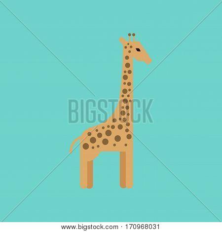 flat icon on stylish background cartoon giraffe