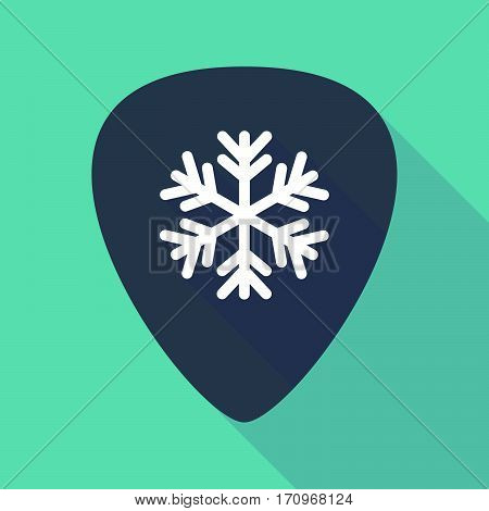 Long Shadow Guitar Pick With A Snow Flake