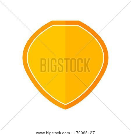 Flat shied. Shield vector illustration. Single color symbol on white background. Color shield for web design. Isolated vector icon.