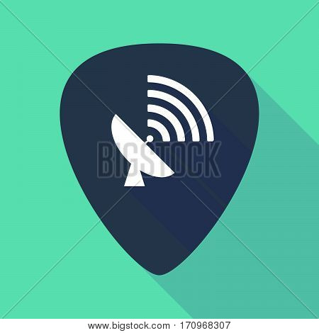 Long Shadow Guitar Pick With A Satellite Dish