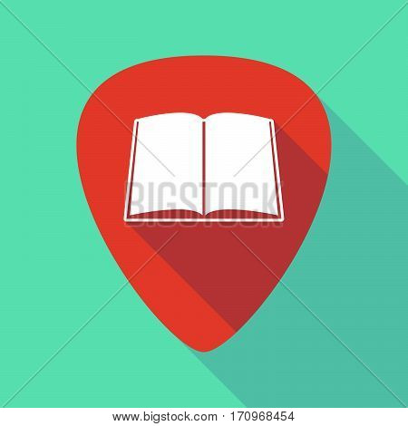 Long Shadow Guitar Pick With A Book