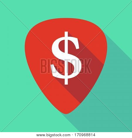 Long Shadow Guitar Pick With A Dollar Sign