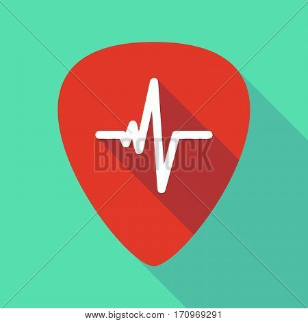 Long Shadow Guitar Pick With A Heart Beat Sign