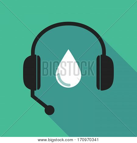 Long Shadow Headphones With A Blood Drop