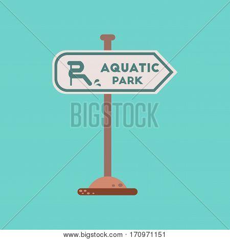 flat icon on stylish background sign aquatic park