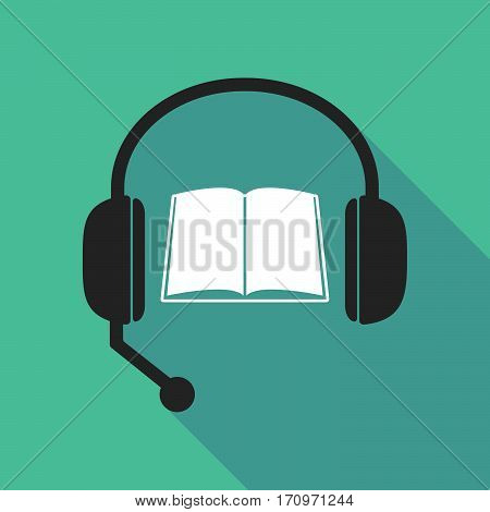 Long Shadow Headphones With A Book