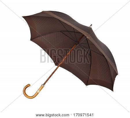 Classic retro umbrella isolated on white background