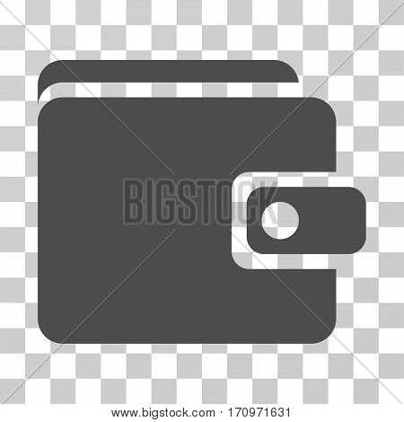 Wallet icon. Vector illustration style is flat iconic symbol gray color transparent background. Designed for web and software interfaces.