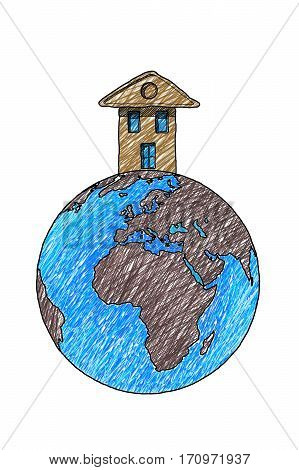 The house over the world - concept image