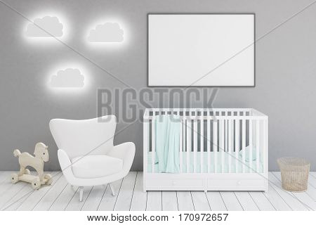 Kid's Room With Armchair And Poster