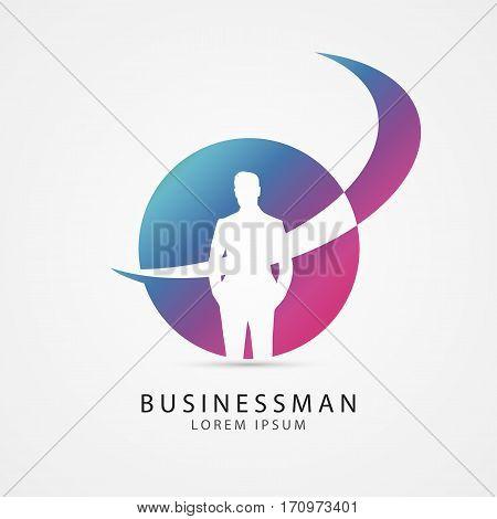 Modern Businessman icon. Vector illustration. Modern symbol