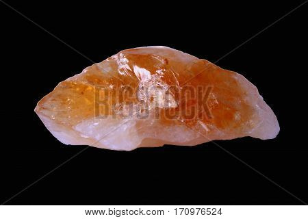 naturel stone calcite object. yellow natural energy.