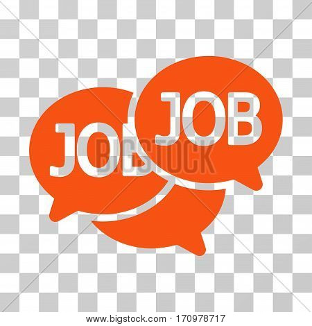 Labor Market icon. Vector illustration style is flat iconic symbol orange color transparent background. Designed for web and software interfaces.