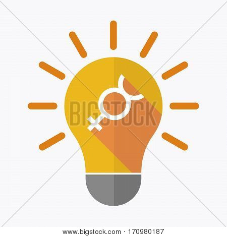 Isolated Light Bulb With  The Mercury Planet Symbol