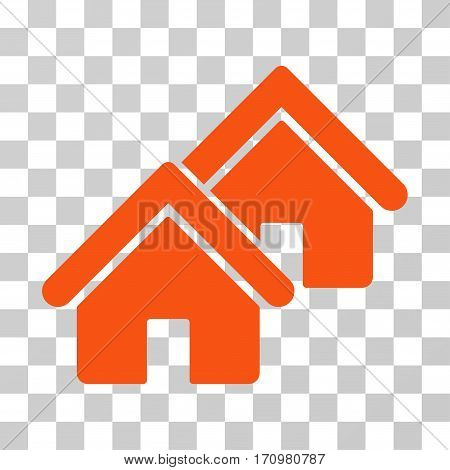 Realty icon. Vector illustration style is flat iconic symbol orange color transparent background. Designed for web and software interfaces.