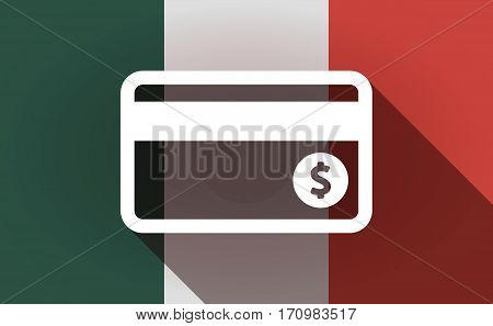 Long Shadow Mexico Flag With  A Credit Card