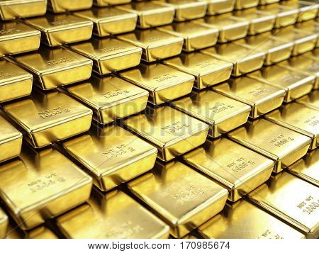 Fine Gold Bars - 3d render