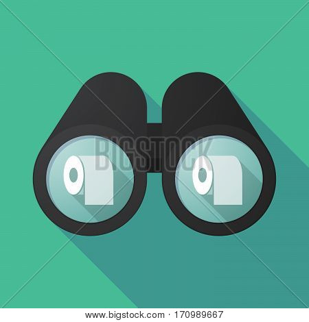 Long Shadow Binoculars With A Toilet Paper Roll