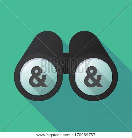 Long Shadow Binoculars With An Ampersand