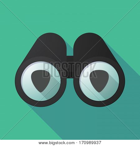 Long Shadow Binoculars With A Plectrum