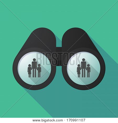 Long Shadow Binoculars With A Male Single Parent Family Pictogram