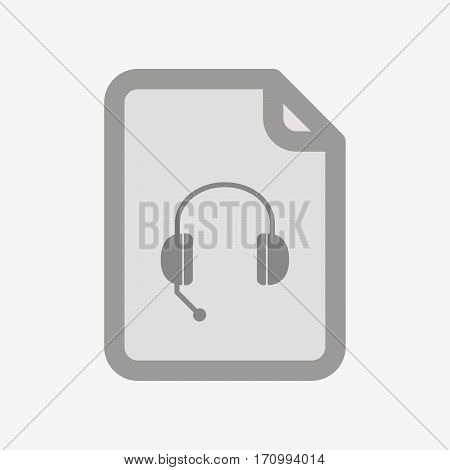 Isolated Document With  A Hands Free Phone Device