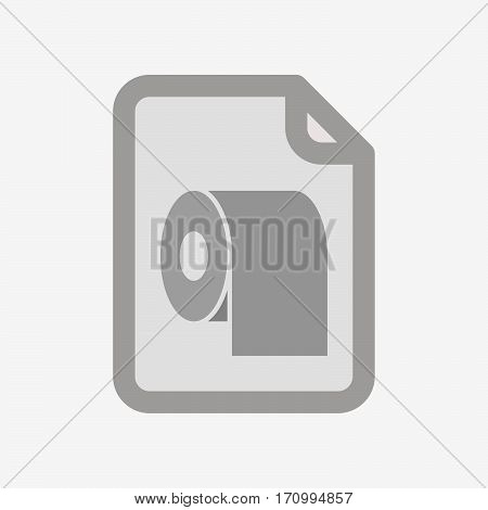Isolated Document With A Toilet Paper Roll