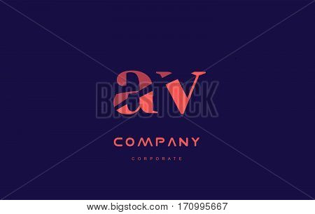 V A Av Company Small Letter Logo Icon Design