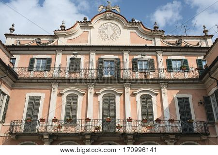 Varese (Lombardy Italy): the historic palace known as Palazzo Estense hostin the town hall