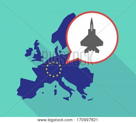 Long Shadow Eu Map With A Combat Plane