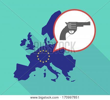 Long Shadow Eu Map With A Gun