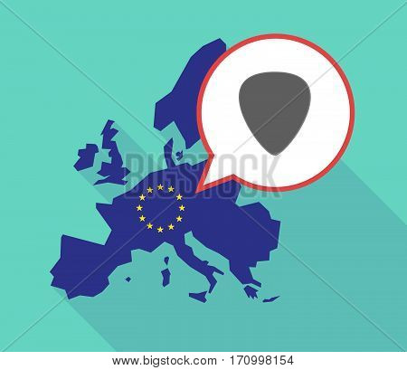 Long Shadow Eu Map With A Plectrum