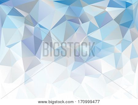 Blue White Polygonal Mosaic Background. Abstract blue background.