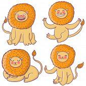 Cartoon lion king poster